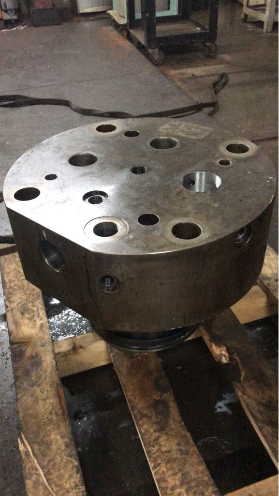 Ship Repair Machining of fuel pump block